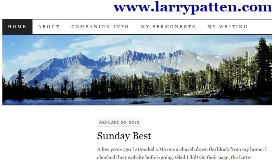 Larry Patten's blogsite
