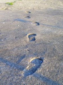 Concrete footprints